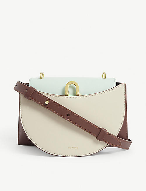 YUZEFI: Edith leather shoulder bag