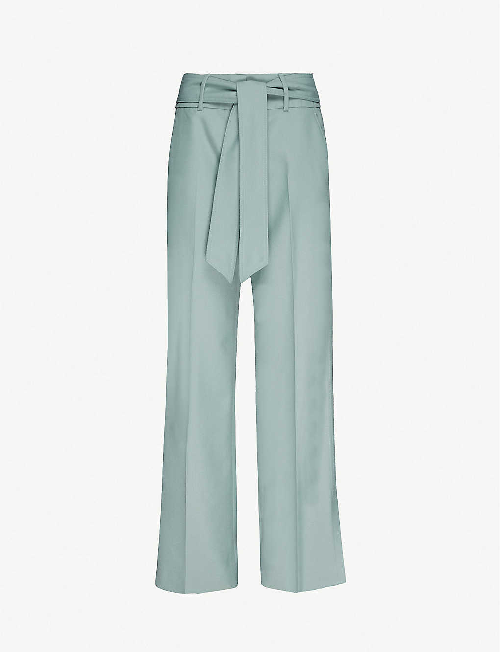 ME AND EM: Straight high-rise stretch-twill trousers