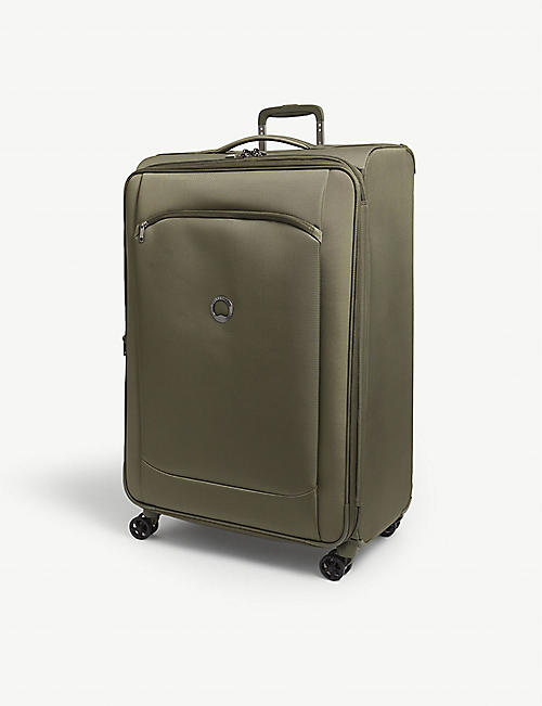 DELSEY: Montmartre Air 2.0 four-wheel recycled woven suitcase 83cm