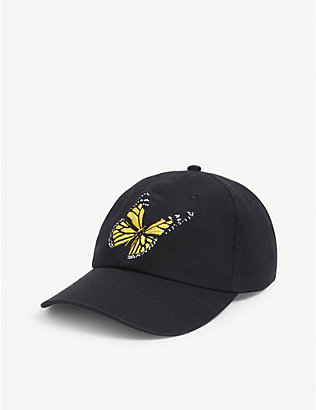 PALM ANGELS: Butterfly embroidery baseball cap