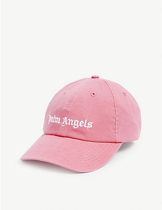 PALM ANGELS: Logo cotton baseball cap