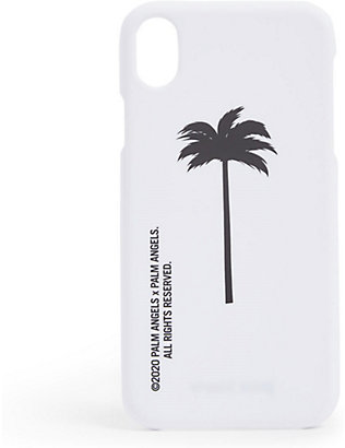 PALM ANGELS: Palm tree-print silicone iPhone XR case