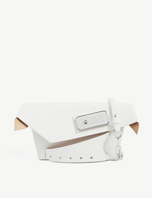 MAISON MARGIELA: Snatched small leather shoulder bag