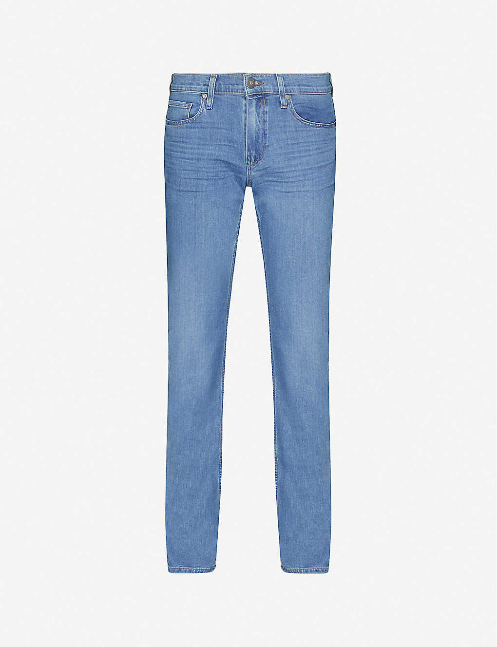 PAIGE: Normandie straight-fit mid-rise jeans