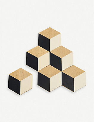 AREAWARE: Table Tiles wood and cork coasters set of six