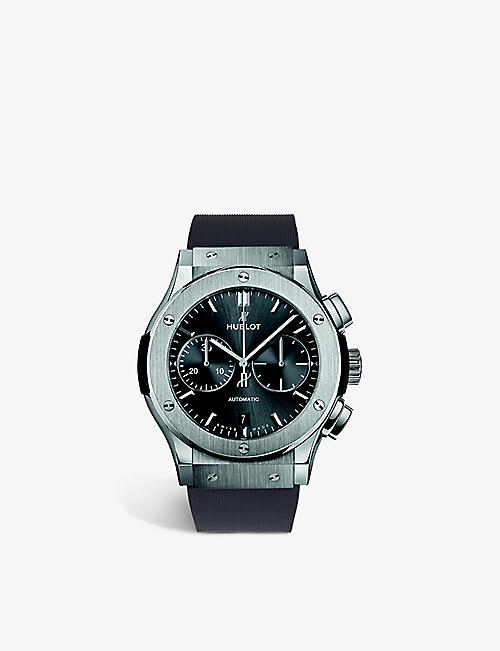 HUBLOT: 521.NX.1171.LR Classic Fusion titanium and rubber automatic watch