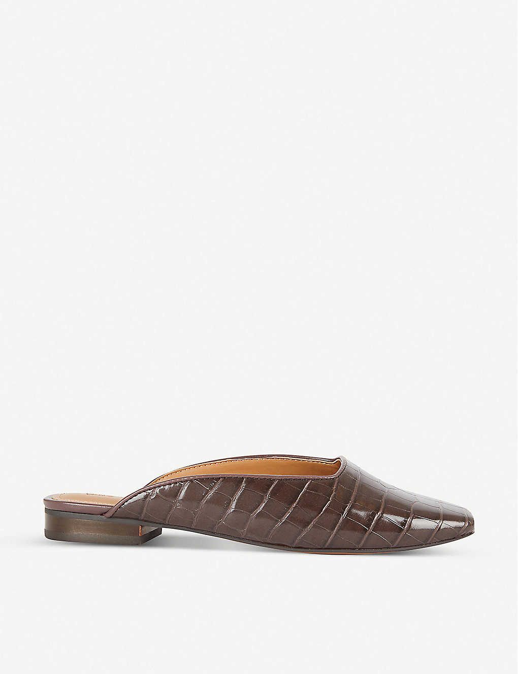 WHO WHAT WEAR: Cherri croc-embossed faux-leather mules