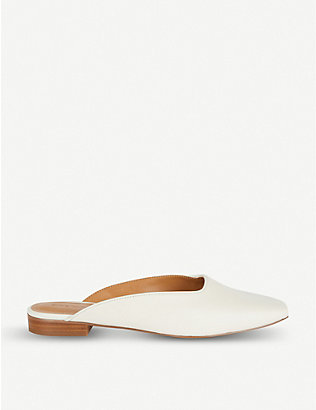 WHO WHAT WEAR: Cherri backless leather mules