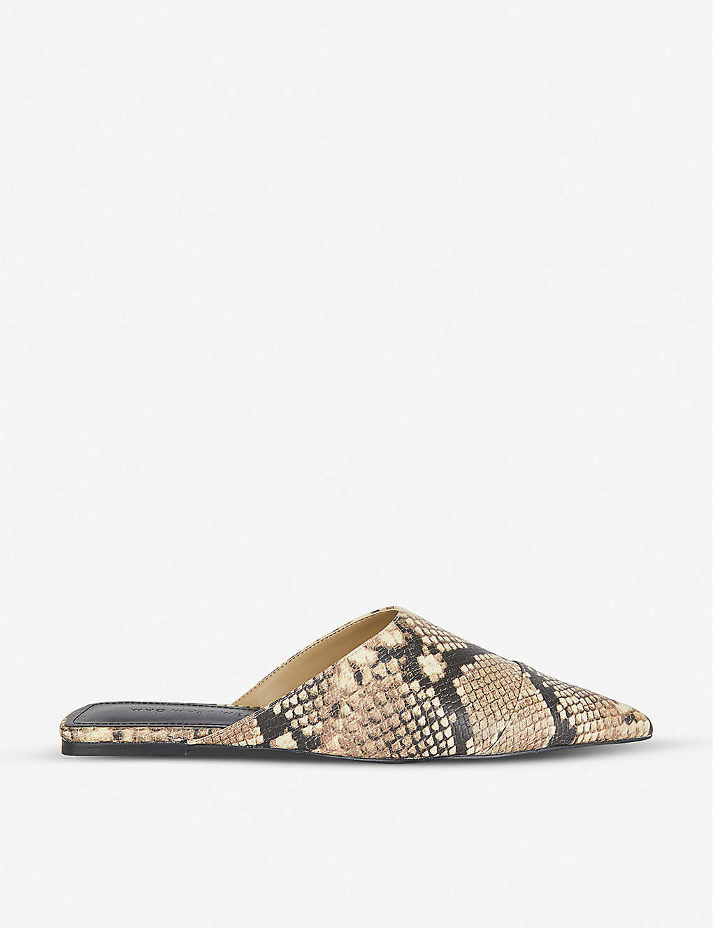 WHO WHAT WEAR: Davidson snakeskin-print leather mules