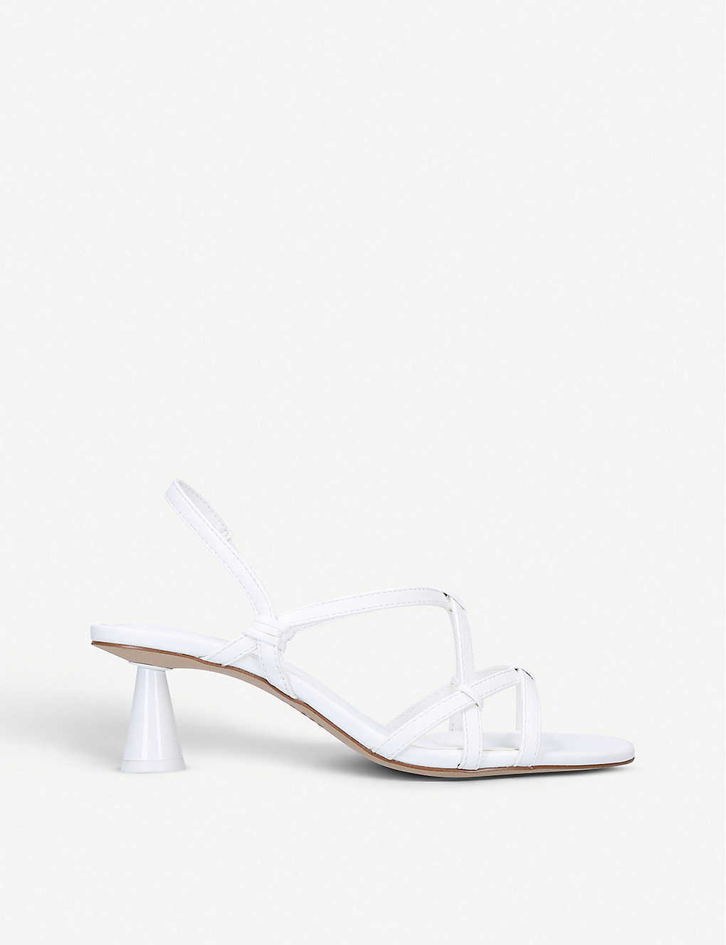 WHO WHAT WEAR: Perla strappy faux-leather sandals