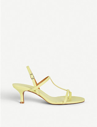 WHO WHAT WEAR: Romi heeled faux-leather sandals