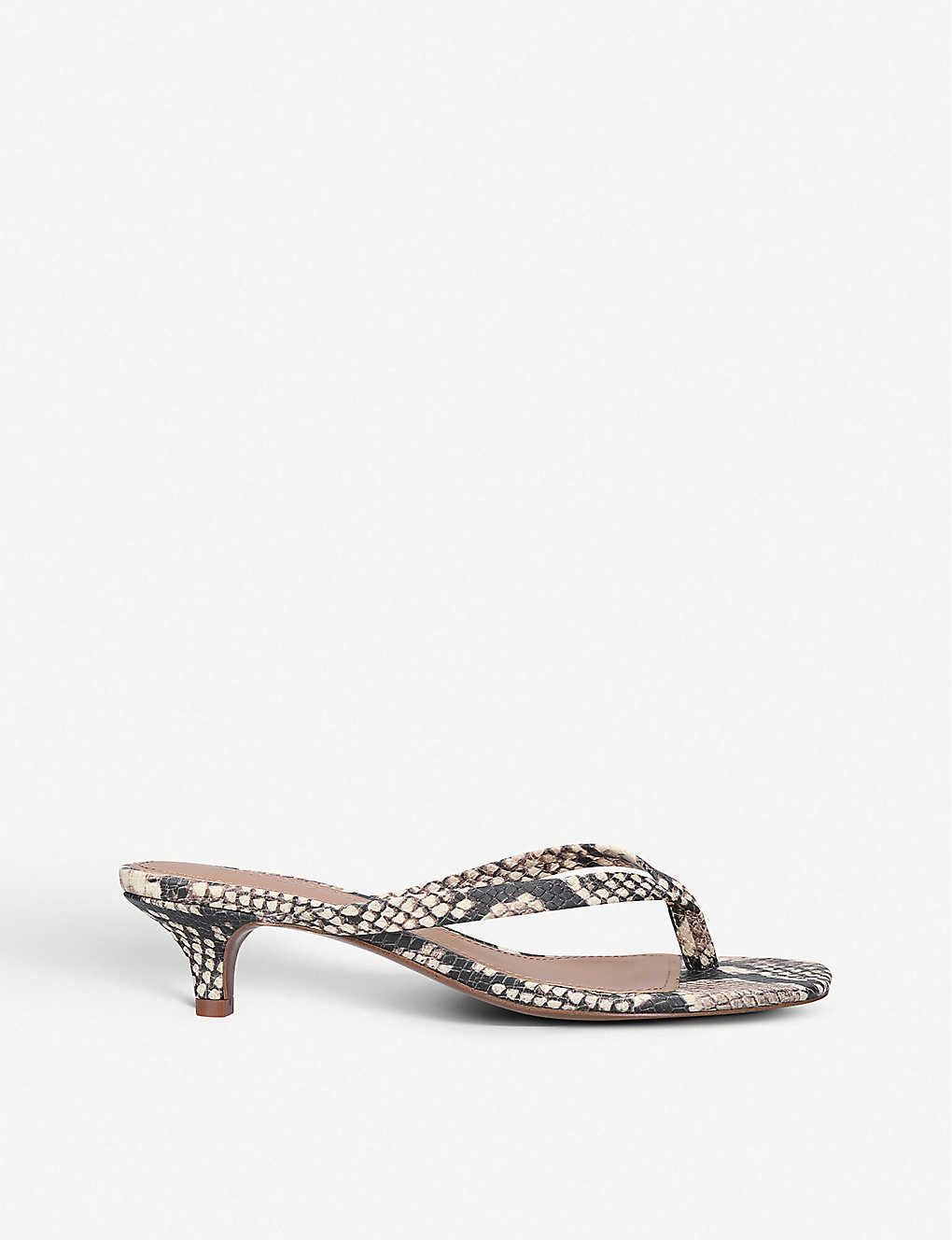 WHO WHAT WEAR: Siena snakeskin-effect faux-leather sandals
