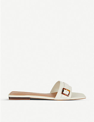 WHO WHAT WEAR: Whitney buckled faux-leather sandals