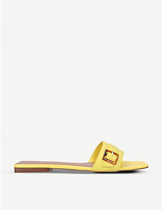 WHO WHAT WEAR: Whitney buckled leather sandals