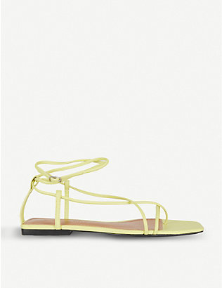 WHO WHAT WEAR: Zander strappy faux-leather sandals