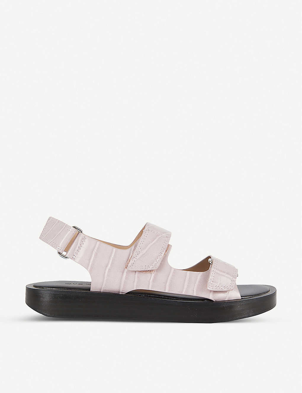 WHO WHAT WEAR: Axel snakeskin-print faux-leather sandals