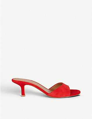 WHO WHAT WEAR: Paige suede heeled mules