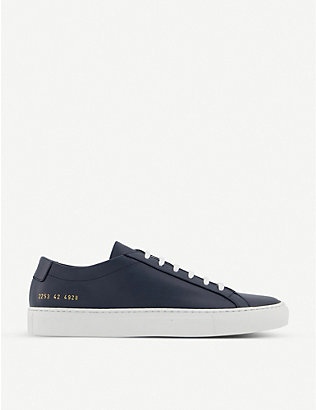 COMMON PROJECTS: Achilles leather low-top trainers