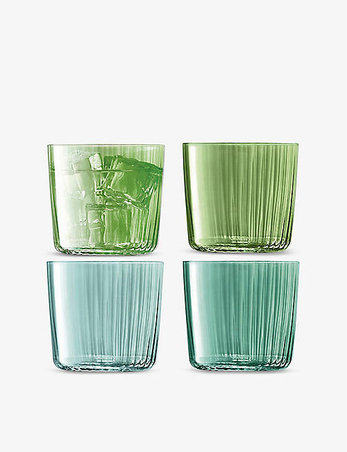 LSA: Gems Assorted Jade glass tumblers set of four