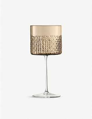 LSA: Wicker glass wine glasses set of two