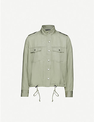 RAILS: Collins high-neck woven jacket
