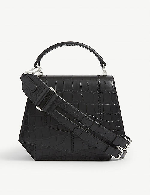 BYREDO: Blueprint mini leather shoulder bag