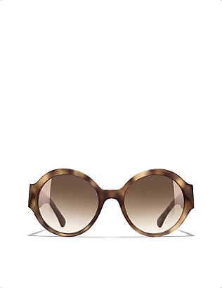 CHANEL: CH5410 acetate round-frame sunglasses
