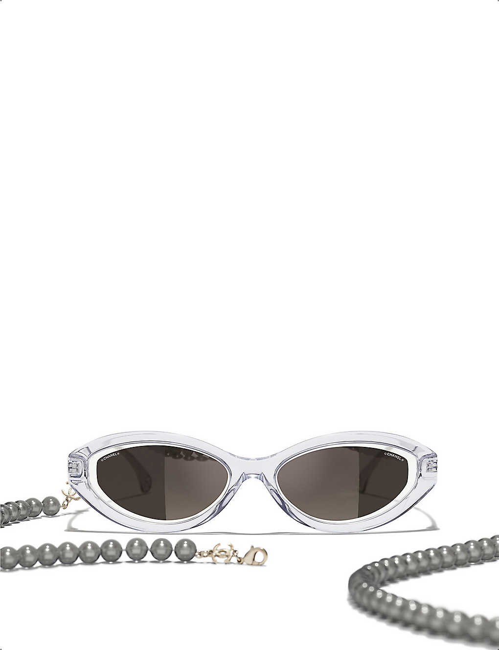 CHANEL: CH5424 acetate oval-frame sunglasses