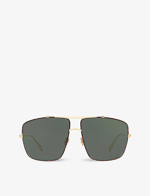DIOR: Dior Monsieur 2 metal aviator sunglasses
