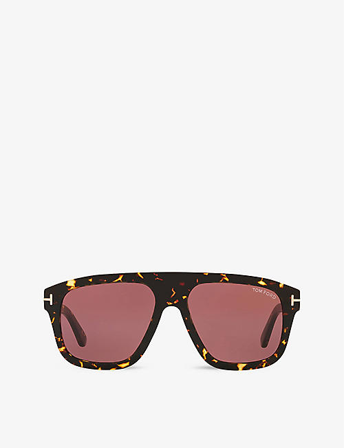 TOM FORD: FT0777 56 square-frame acetate sunglasses