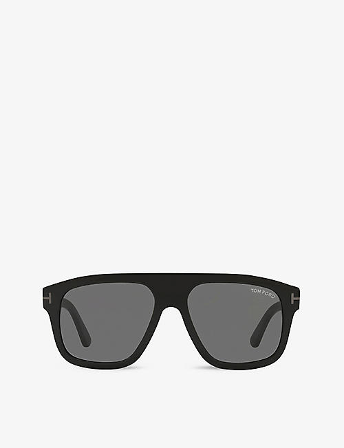 TOM FORD: FT0777-N 56 Thor square-frame acetate sunglasses