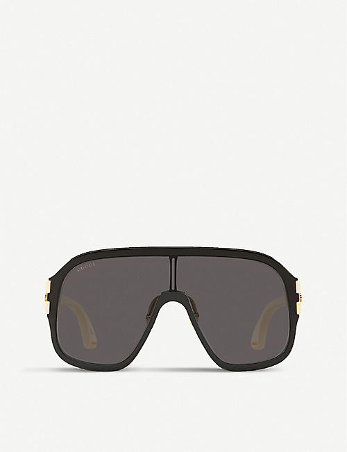 GUCCI: GG0663S oversized acetate sunglasses
