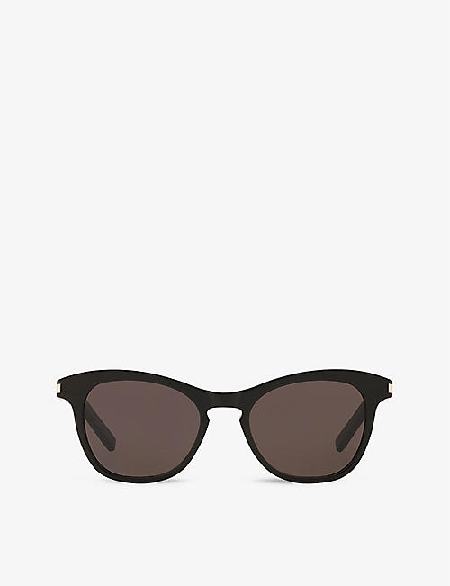 SAINT LAURENT: SL356 round-frame acetate sunglasses