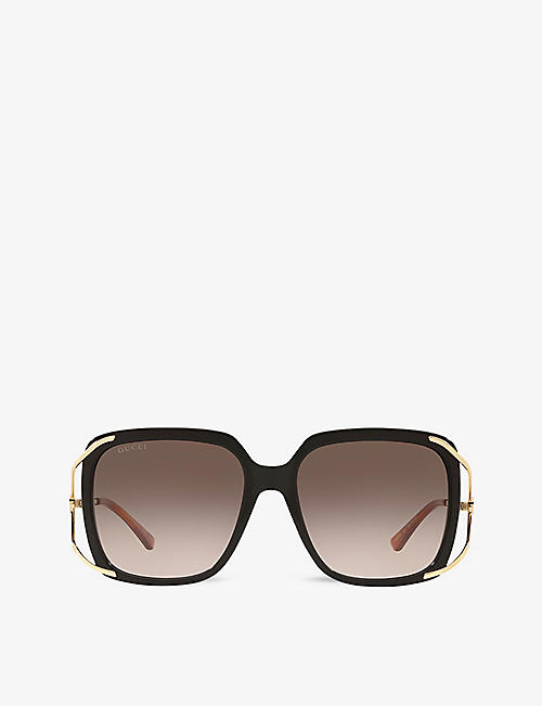 GUCCI: GG0647S oval-frame acetate sunglasses