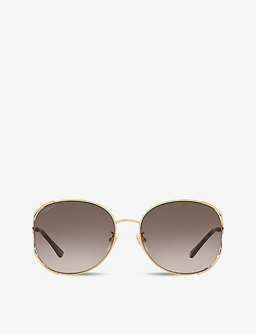 GUCCI: GG0650SK oval-frame glass sunglasses