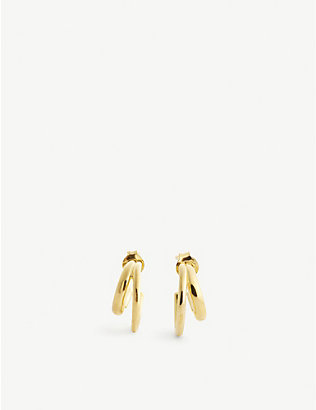 OTIUMBERG: Duo gold vermeil hoop earrings