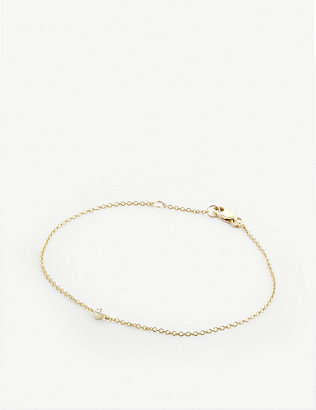 OTIUMBERG: 9ct gold diamond embellished chain bracelet
