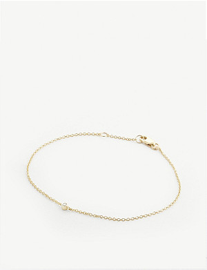 OTIUMBERG 9ct gold diamond embellished chain bracelet