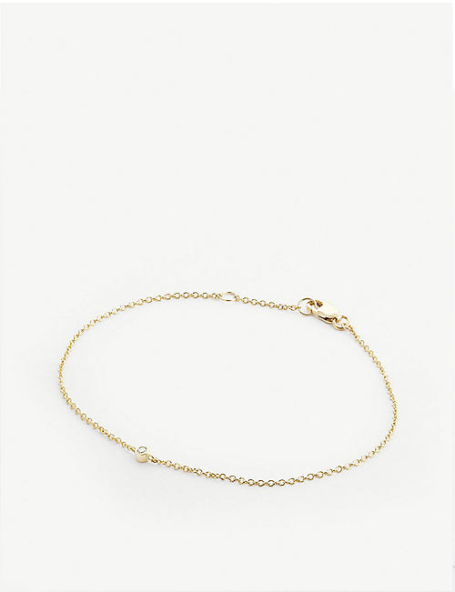 OTIUMBERG: 9ct gold and diamond embellished chain bracelet