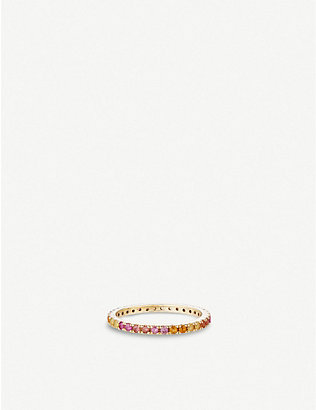OTIUMBERG: Rainbow 9ct gold ring