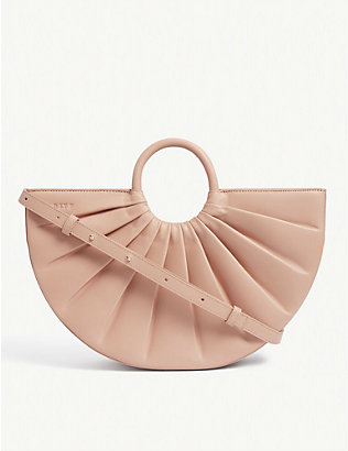 DLYP: Pleated Bender medium leather cross-body bag