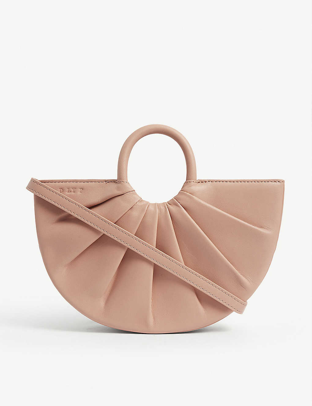 DLYP: Pleated Bender small leather cross-body bag