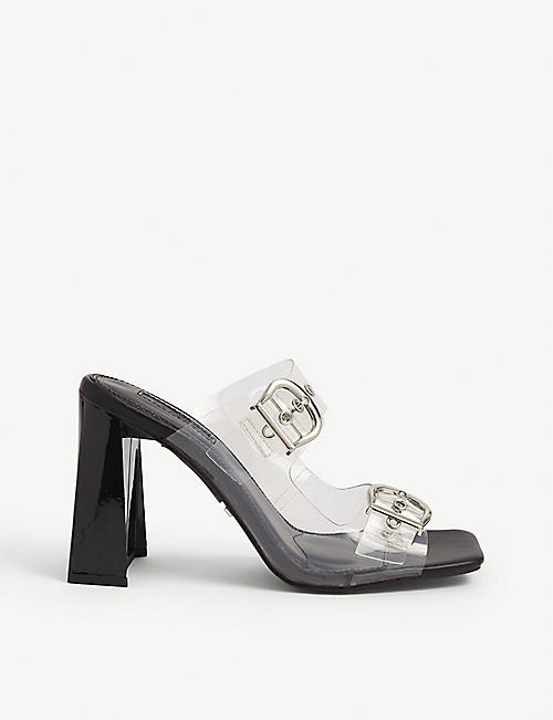 TOPSHOP: Regine buckle-detail heeled mules