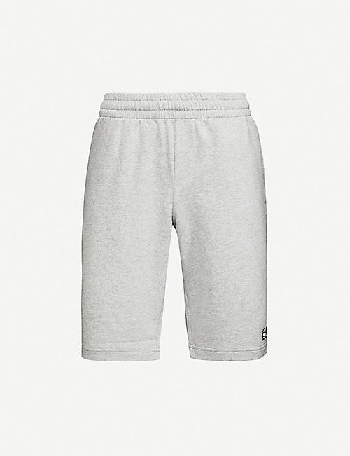 EA7 ARMANI Logo-embossed cotton-jersey shorts