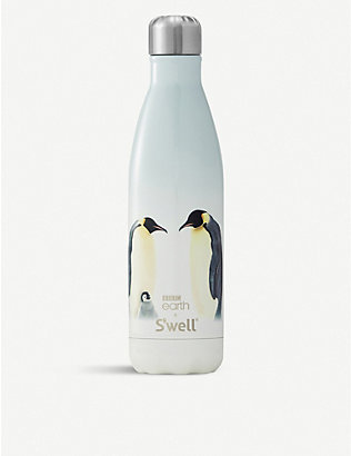 SWELL: BBC Earth Penguin stainless steel water bottle 500ml