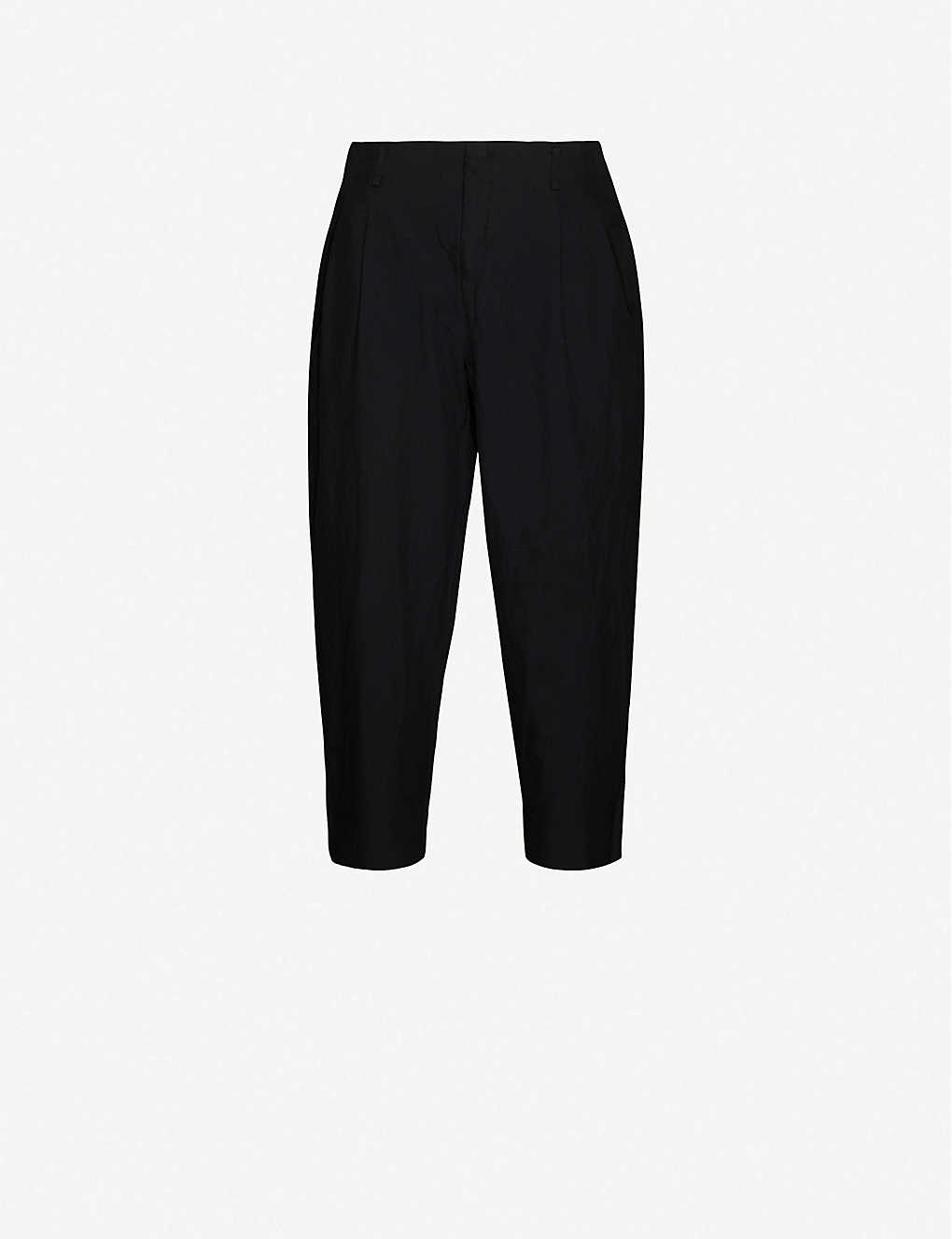 COMME DES GARCONS HOMME PLUS: Pleated relaxed-fit tapered twill trousers