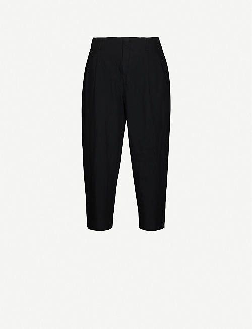 COMME DES GARCONS HOMME PLUS Pleated relaxed-fit tapered twill trousers