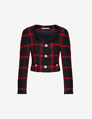 ALESSANDRA RICH: Checked tweed jacket