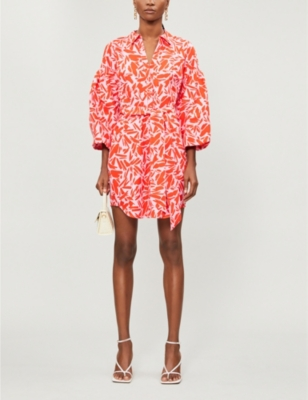 VERONICA BEARD Samy graphic print cotton and silk blend mini dress
