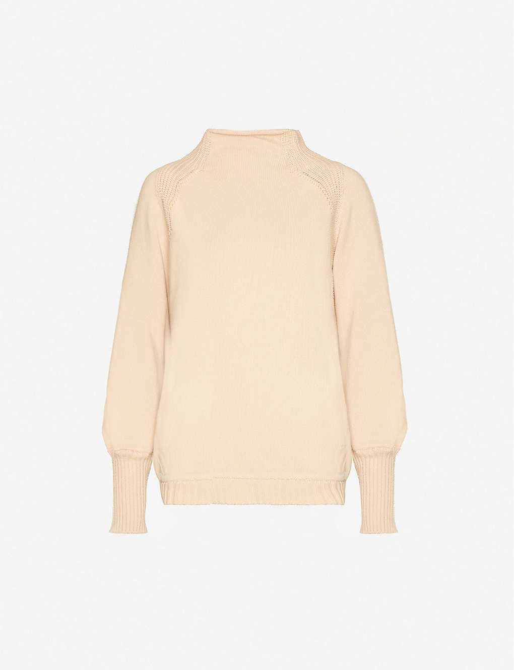 LOLA STUDIO: High-neck cotton and cashmere-blend jumper